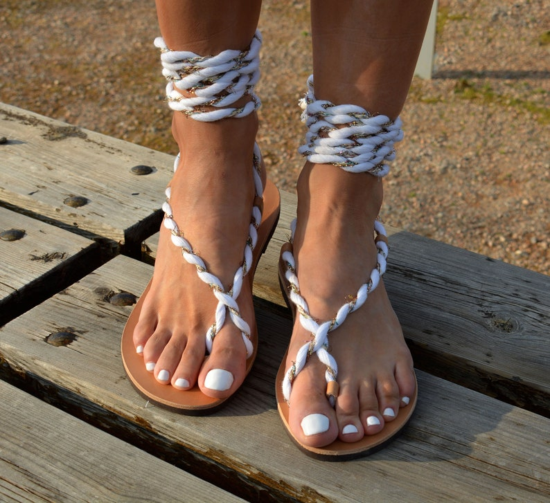 fdf1aeceba3 Greek sandals Ankle wrap sandals Lace up gladiator | Etsy