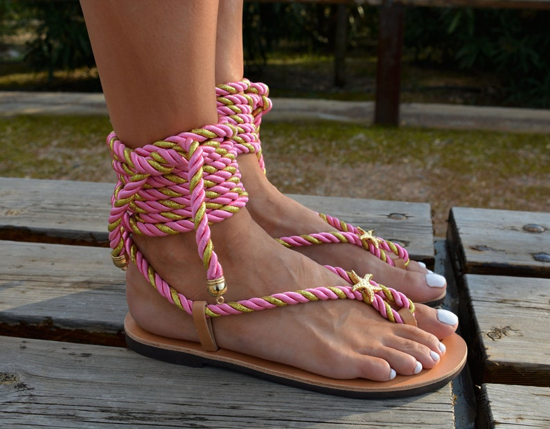ba80741943c Tie up gladiator sandals Ancient Greek sandals Lace up