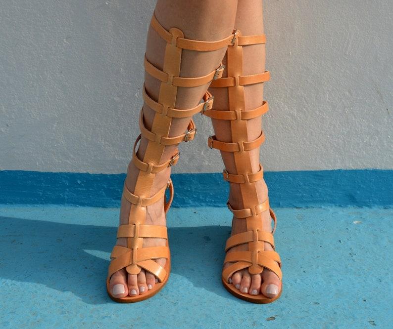 Spartan sandals /'/'Elektra/'/' Greek sandals Ancient Greek Sandals Knee High Gladiator Boots Leather Gladiator Sandals