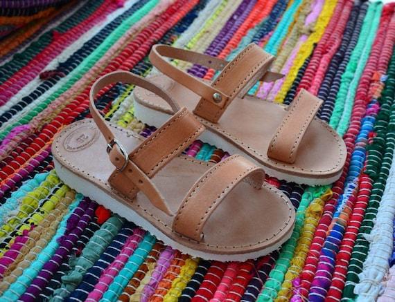 Leather Greek Sandals, Girls Shoes, White Platform sandals, Handmade Shoes, Girls Sandals, Baby Sandals, Summer Sandals, Anti slip sandals