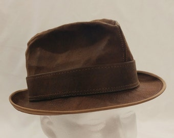 9b8589f5c9394 1960s Mid Century Towncraft Suede Mens Fedora   Trilby Hat