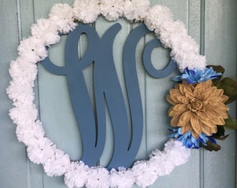 Monogram Floral Wreath