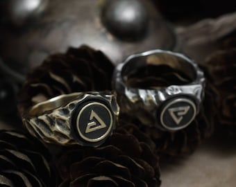 Earth, Air, Water, Fire symbols, Quen and Aard, Igni, Yrden, Axii ring