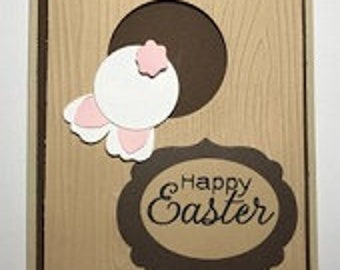Bunny Stuck Happy Easter Greeting Card