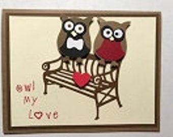 Owl My Love Greeting Card