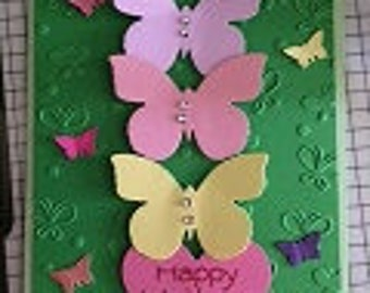 Butterfly Embossed Greeting Card