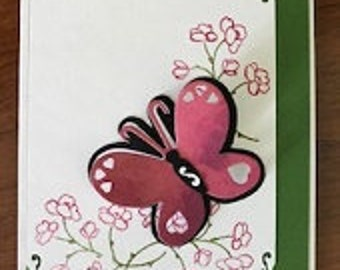 Butterfly Hearts Greeting Card