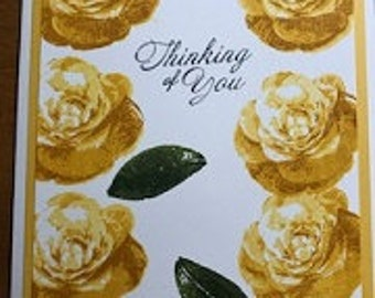 Thinking Of You Flower Greeting Card
