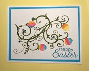 Happy Easter Eggs Greeting Card