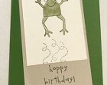 Hoppy Birthday Sorry I Frogot Greeting Card