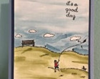 Windy Day Greeting Card set (4)
