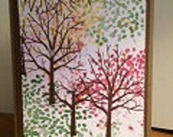 Trio of Trees Greeting Cards