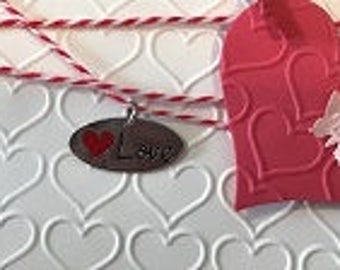 Love Greeting Card with Heart and Charm