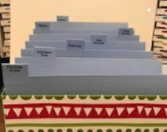 Greeting Card Storage Box with Design with Separators