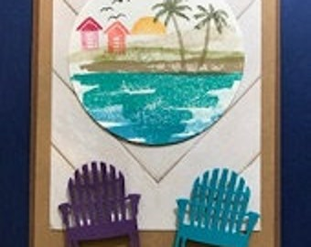 Beach Chairs Island Hang Out Greeting Card