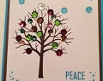 Peace Winter Greeting Card