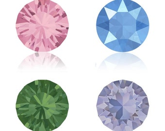 5, 10 or 20 rhinestones - Crystal Swarovski SS39 (1088) 8 mm - light pink, blue, palace green summer, provence lavender (purple)