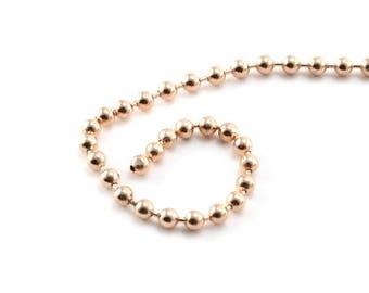 Perles de Nacre blanche irisée Boules 2mm Fil 39cm 170pc env