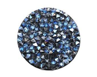 Puck / pellet rock Crystal 15, 24 or 30 mm Crystal Swarovski moonlight (Blueberry) Ref: 584 / 584-1 / 2 584