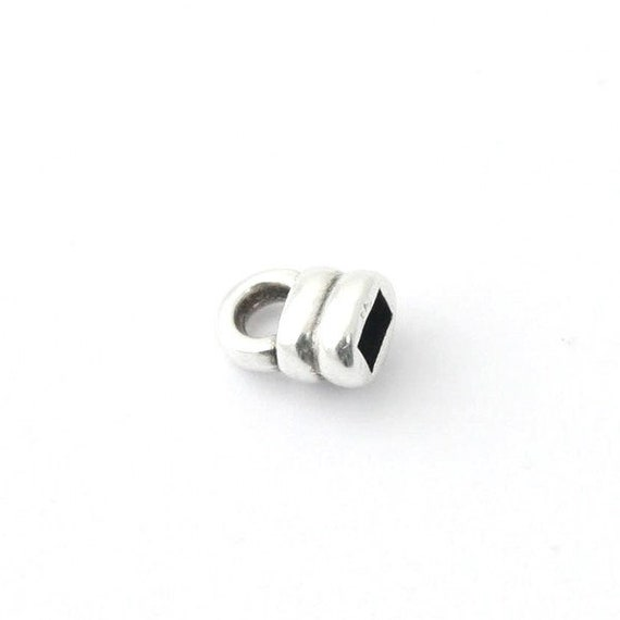 10 20 or 50 Tip 5.5 mm flat hole 3 mm silver gold or rose gold pink gold