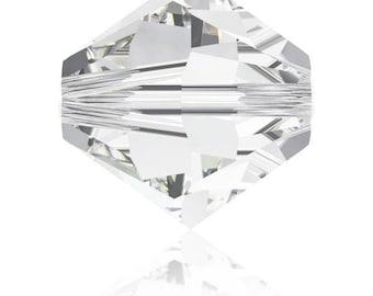 Set of 30-50 or 100 bicone Swarovski 4 mm crystal (clear) - Ref: 2103