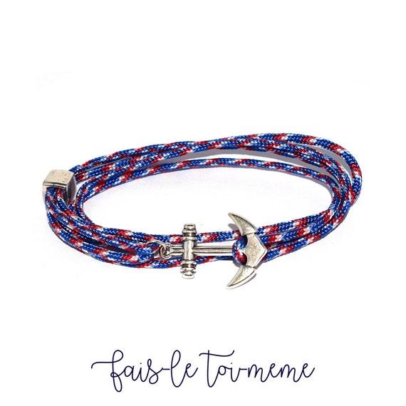 bracelet ancre marin homme