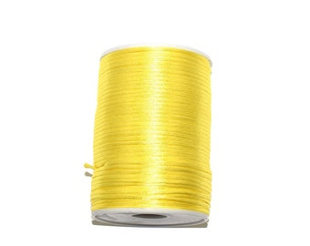 5, 10 or 20 meters of 2.2 mm (Chinese string) rat tail light yellow