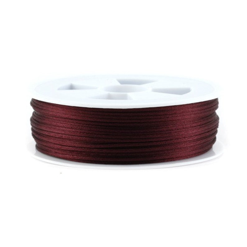 5 red Chinese string 20 or 50 meters of 1.5 mm or 2.2 mm rat tail Eggplant 10