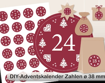 DIY Advent Calendar norwegian digital sheet