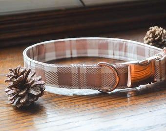 Rose Gold Dog Collar, Plaid Dog Collar, Christmas Dog Collar, Stocking Dog, Dog Collar, Dog, Dog Lover Gift, Dog Christmas Stocking, Collars