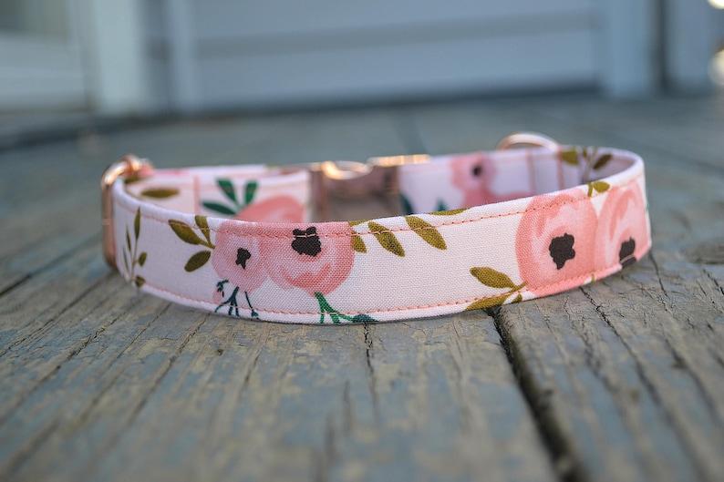 Dog Collar Girl Dog Collar Rose Dog Collar Rose Gold Dog image 1