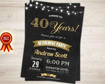 rustic retirement invitation printable retirement party etsy