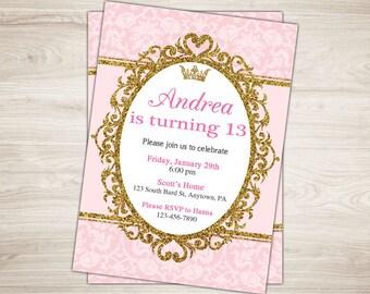 13th birthday party invitation girl birthday invitation 13th birthday invitation girl 13th birthday invite teen birthday party invitation printable tween filmwisefo
