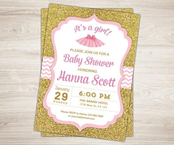 Tutu baby shower invitation ballerina baby shower invitation etsy image 0 filmwisefo