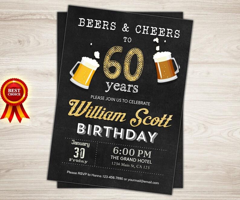 Surprise 60th Birthday Invitation Man Party
