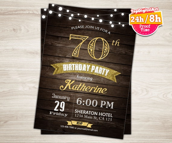75th Birthday Invitation Man Surprise Party