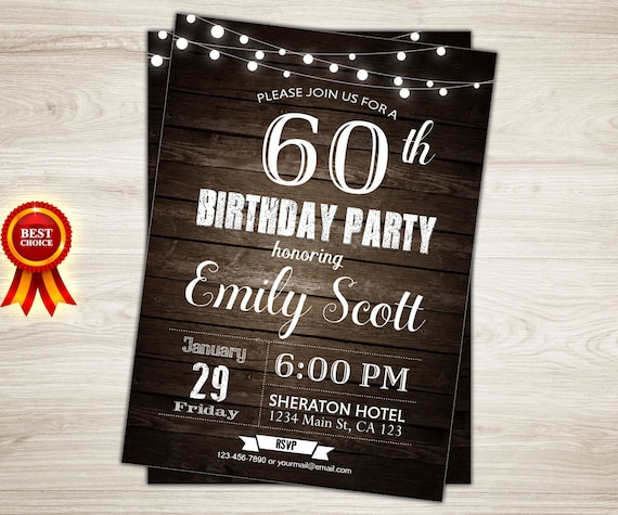 surprise 60th birthday invitation man surprise birthday party etsy