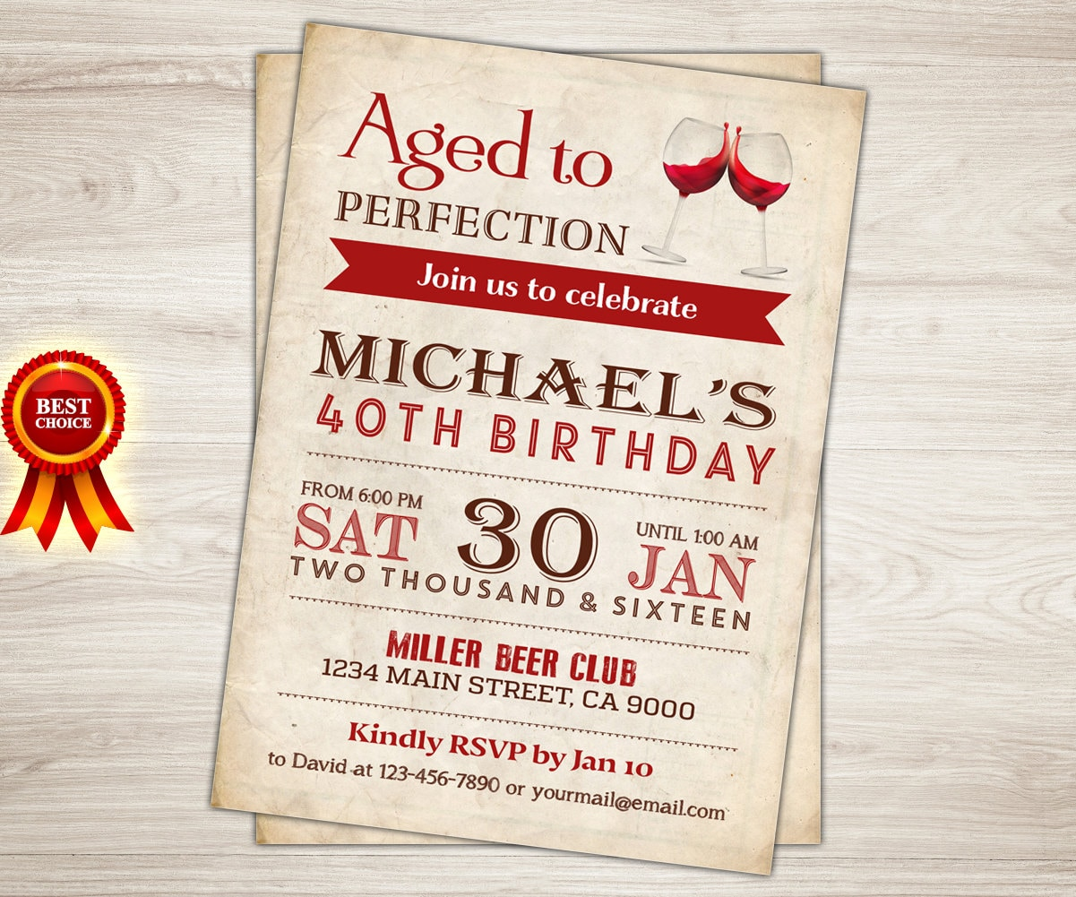 Surprise 30th Birthday Invitation Cheers to 30 40 50 60 year. | Etsy