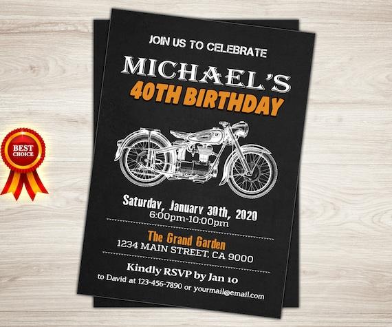 Harley Davidson Party Invitations