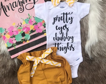 5ad95ba46cbe Mustard BabyGirl Coming Home Outfit