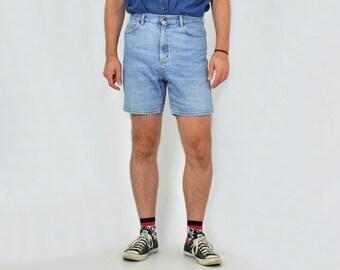 4eb44330c1c4 Lee shorts men Vintage 80s stone wash classic blue high waist waisted  hipster unisex 1990 s M L
