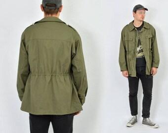 Parka Parka Vintage Vintage Vintage Manteau Kaki Pour Militaire Veste Homme Pluie Style CZawdqa