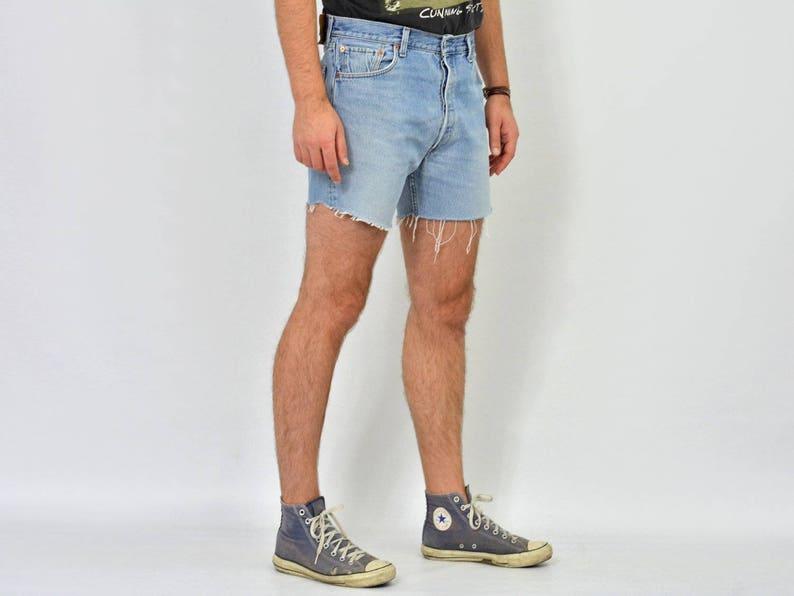 b953ee8e Blue Levis 501 shorts mens vintage blue high waist waisted   Etsy