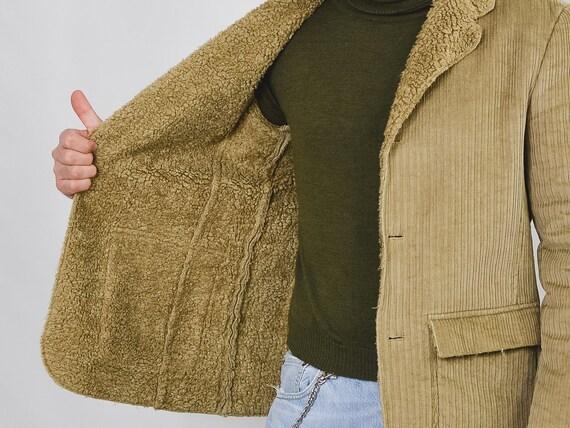 MEXX Corduroy jacket Vintage 90's faux shearling … - image 5