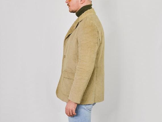MEXX Corduroy jacket Vintage 90's faux shearling … - image 6