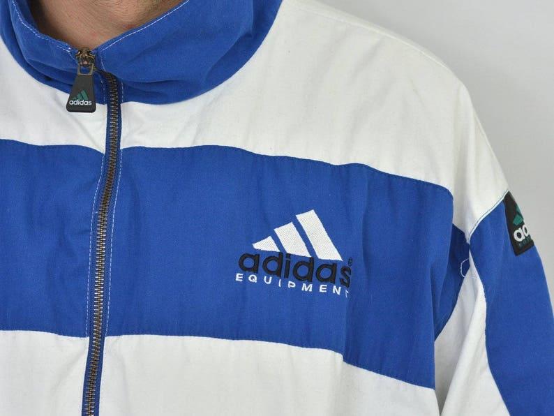 97494ce28e44 Adidas Windbreaker Track jacket white blue striped oldschool