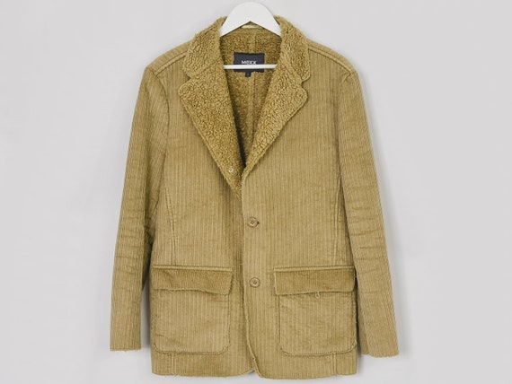 MEXX Corduroy jacket Vintage 90's faux shearling … - image 9
