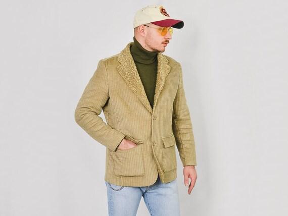 MEXX Corduroy jacket Vintage 90's faux shearling … - image 8