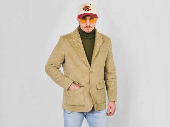 MEXX Corduroy jacket Vintage 90's faux shearling l