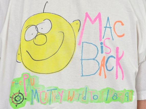 printed 1990 T Mac band Tour vintage XL Shirt Paul 1989 Back McCartney L World concert is Sn1Sxz